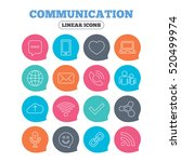 communication icons. smartphone ... | Shutterstock .eps vector #520499974