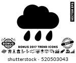 black rain cloud pictograph... | Shutterstock .eps vector #520503043