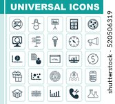 set of 25 universal editable... | Shutterstock .eps vector #520506319
