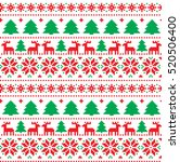 new year's christmas pattern... | Shutterstock .eps vector #520506400
