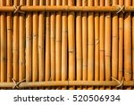 bamboo fence background texture ... | Shutterstock . vector #520506934