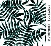 palm leaves pattern  seamless... | Shutterstock .eps vector #520512829