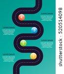road step diagram template.... | Shutterstock .eps vector #520514098