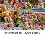 detail work in gopuram  hindu... | Shutterstock . vector #520514899