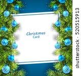 illustration christmas card... | Shutterstock .eps vector #520515913