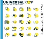 set of 25 universal editable... | Shutterstock .eps vector #520516288