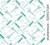 cute pattern of scissors for... | Shutterstock .eps vector #520517164
