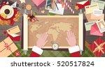 santa clause christmas cartoon... | Shutterstock .eps vector #520517824