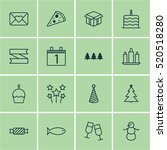 set of 16 celebration icons....