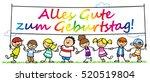many cartoon children wishing... | Shutterstock . vector #520519804