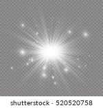 Glow Light Effect. Star Burst...