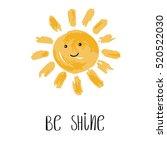 be shine vector illustration.... | Shutterstock .eps vector #520522030