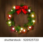 christmas wreath template with...