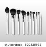 vector set of black clean... | Shutterstock .eps vector #520525933