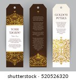 vector set of ornate vertical... | Shutterstock .eps vector #520526320