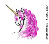 the unicorn with the purple... | Shutterstock .eps vector #520531864