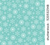 christmas seamless pattern with ... | Shutterstock .eps vector #520532548