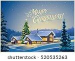 winter festive landscape with...   Shutterstock .eps vector #520535263