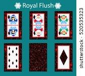 royal flus playing card poker... | Shutterstock .eps vector #520535323