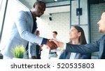 job applicant having interview. ... | Shutterstock . vector #520535803