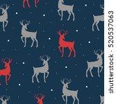decorative reindeer cute vector ... | Shutterstock .eps vector #520537063