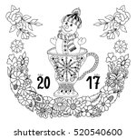 vector illustration zentangle ... | Shutterstock .eps vector #520540600
