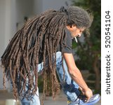 Small photo of TEL AVIV ISRAEL 07 11 16: Rasta man is a man who belongs to the Rastafari movement, which originated in Jamaica. Rastas consider it a lifestyle and culture as well as a spiritual path.