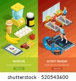 colorful gym isometric vertical ... | Shutterstock .eps vector #520543600