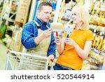 hardwarer store worker with... | Shutterstock . vector #520544914
