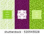 vector set of packaging design... | Shutterstock .eps vector #520545028
