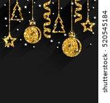 illustration merry christmas... | Shutterstock .eps vector #520545184