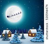 night christmas forest...   Shutterstock .eps vector #520546474