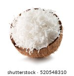 half of coconut with coconut... | Shutterstock . vector #520548310