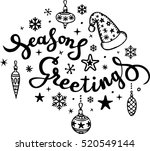 christmas calligraphy.... | Shutterstock .eps vector #520549144
