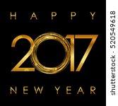 vector   2017 happy new year... | Shutterstock .eps vector #520549618