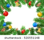 christmas background with fir... | Shutterstock .eps vector #520551148