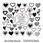collection of doodle sketch... | Shutterstock .eps vector #520552360