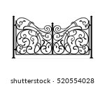forged gates | Shutterstock .eps vector #520554028