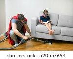 ordinary day of superhero... | Shutterstock . vector #520557694