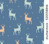decorative reindeer cute vector ... | Shutterstock .eps vector #520558846