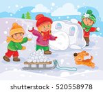vector illustration of little... | Shutterstock .eps vector #520558978