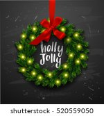 christmas greeting card  with... | Shutterstock .eps vector #520559050