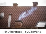 a smoking chimney. | Shutterstock . vector #520559848