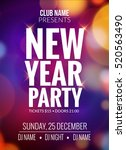 new year party design banner.... | Shutterstock .eps vector #520563490