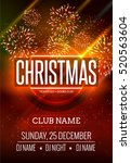 christmas party poster design... | Shutterstock .eps vector #520563604