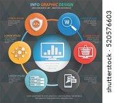 data analysis concept design... | Shutterstock .eps vector #520576603