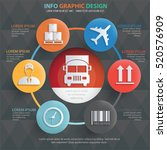 logistic cargo info graphic... | Shutterstock .eps vector #520576909