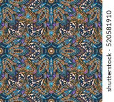 ornate floral seamless texture  ... | Shutterstock .eps vector #520581910