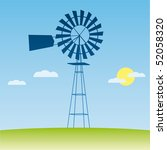ecology concept  wind driven... | Shutterstock .eps vector #52058320