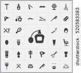 barbershop icons universal set... | Shutterstock .eps vector #520583383